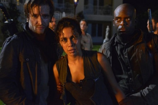 Screen shot of Nora in NBC's Revolution