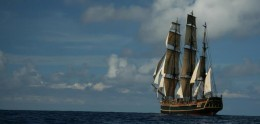 Photo from HMS  Bounty  Facebook page .