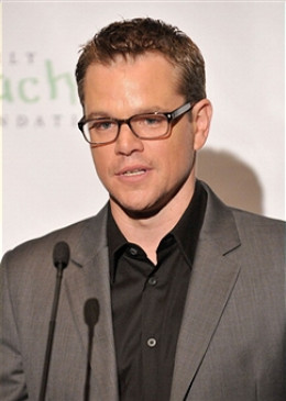 MATT DAMON FILM STAR, GOOD GUY.