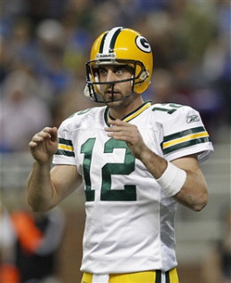 AARON ROGERS, QUARTERBACK FOR GREEN BAY PACKERS