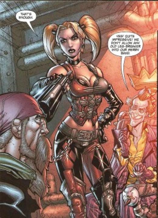 Harley Quinn Costume in Batman Arkham City #3 Comic Book