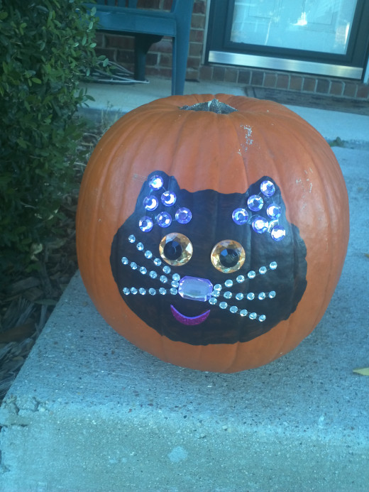 Kitty Cat No-Carve Pumpkin