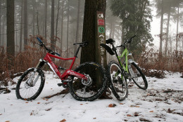 Winter rides can be both exciting and peaceful