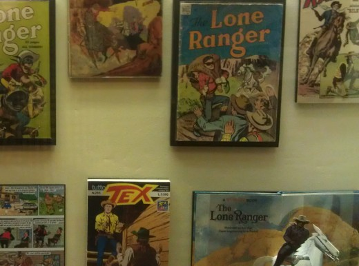 Comic books and children's books dealing with Texas Ranger themes.