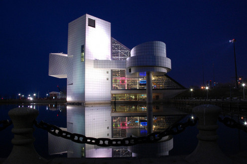 Rock-N-Roll Hall of Fame Museum in Cleveland, Ohio.