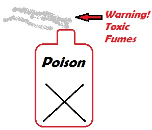 Household Chemicals put out toxic fumes that irritate the lungs, nose, and throat.