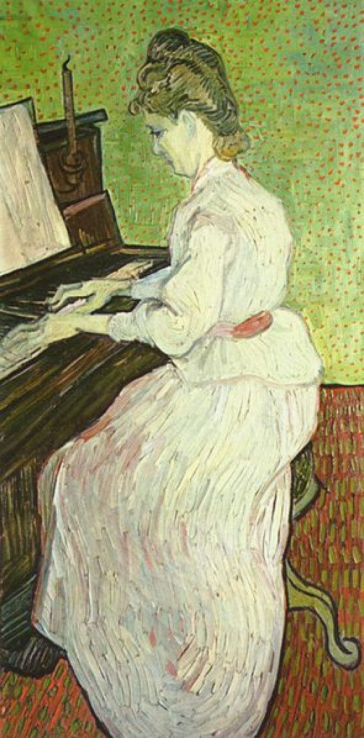 Mademoiselle Gachet at the piano by Van Gogh