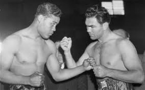 Joe Louis and Max Schmeling fought twice winning one a piece. Louis won the rematch with a first round knockout.