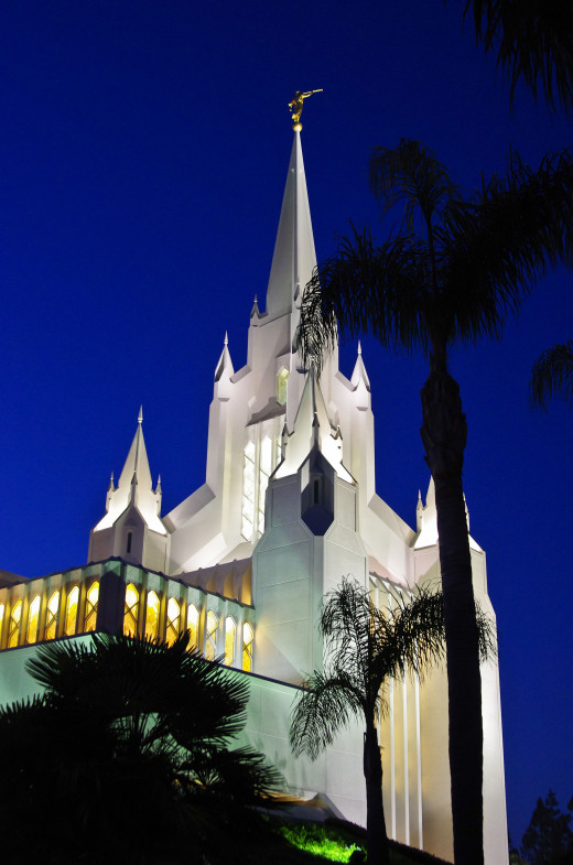 The San Diego Temple is one of more than 130 such beautiful temples the LDS Church operates throughout the world.