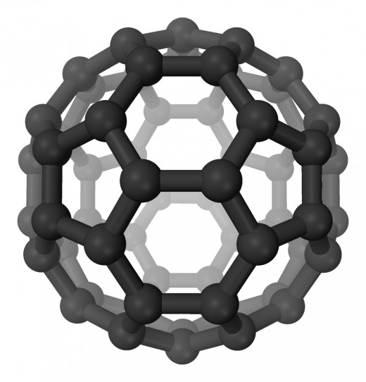 The shape of a soccer ball, this simple carbon structure is the starting place for many weird and wonderful structures, including carbon fibre.