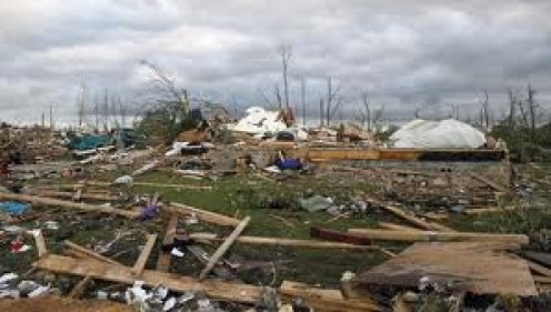 Tornado Terror in Tuscaloosa, Alabama in 2011. Several tornadoes tore through the state.