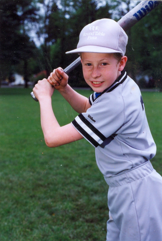 Me playing Little League. Look how tough I was!