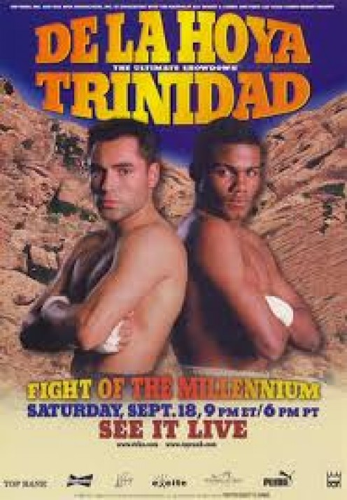 Felix Trinidad vs Oscar De La Hoya was a welterweight unification bout and one of the largest grossing pay per views ever.