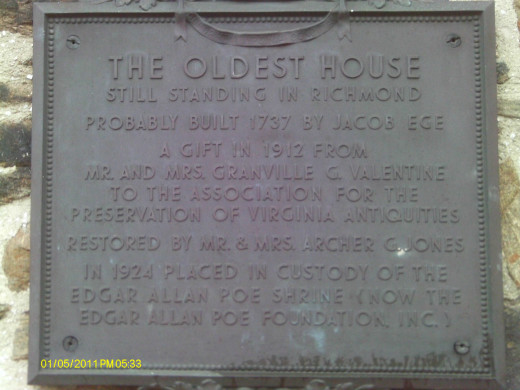 The sign outside of the Old Stone House