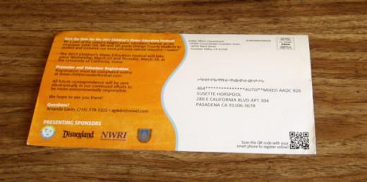 Recruitment postcard for 2013 event.