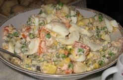Healthy Recipes of Russian Low Fat Salads. Recipes of Olivie and Vinegret.