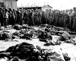 This archive photo of enforced starvation in Auschwitz comes from a Greek site and is ironic insofar as Greece is drifting into Nazi like fascism.