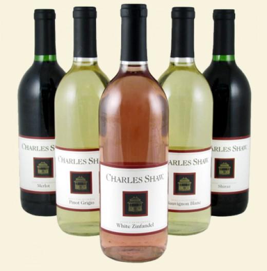 Charles Shaw Wine Bottles