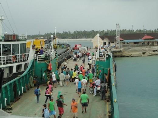 Our RoRo arrives at Bantayan Island