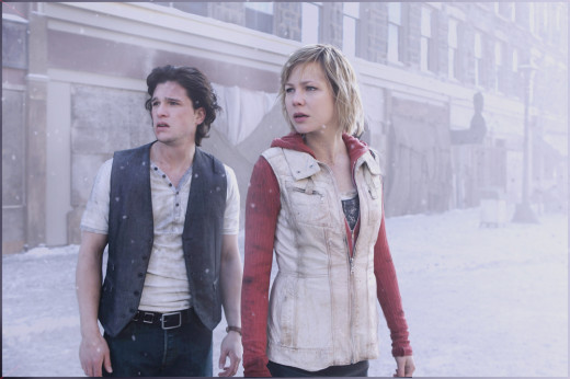 Screen shot of Vincent (Harrington) and Sharon/Heather (Clemens) in Silent Hill: Revelation