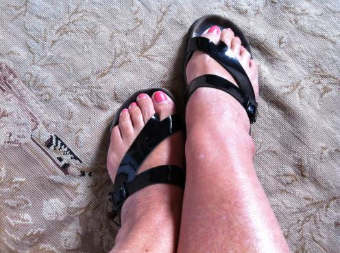 My feet in Mephisto sandals