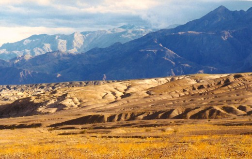 The colors of the mountains and dunes vary by day and lighting in Death Valley National Park.