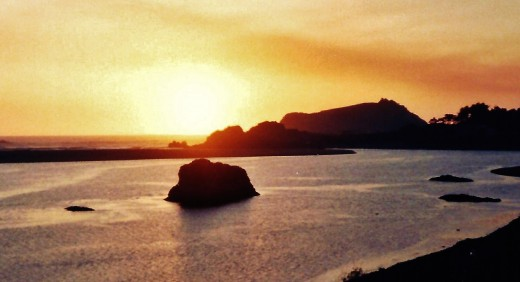 Sunset in Smith River...from hub...Smith River California to Crescent City California ~ Ocean Pictures ~ Redwoods Forest