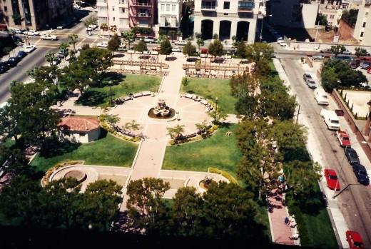 Huntington Park across the street from the Huntington Hotel in San Francisco.