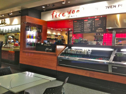Firewood Cafe outside Gate 80 is the smallest of four pizzerias at SFO.