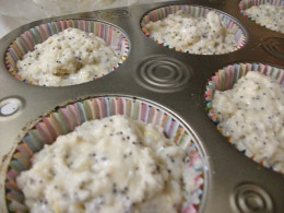 Lemon Poppy Seed Muffins Before Baking