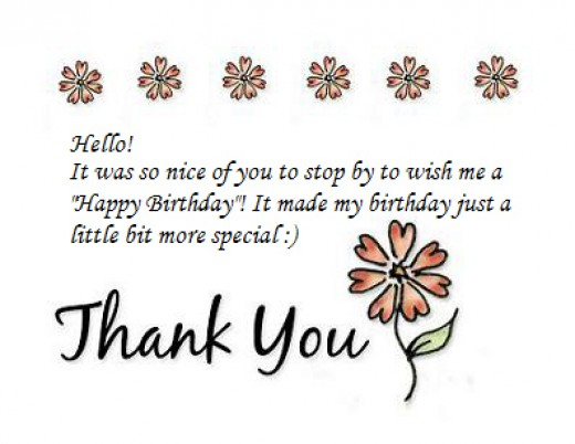 Thank You Notes for Birthday Wishes – Thank You Note Sample