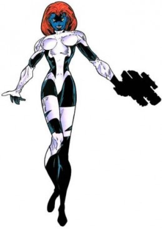 Mystique black and white bodysuit X-Factor Costume