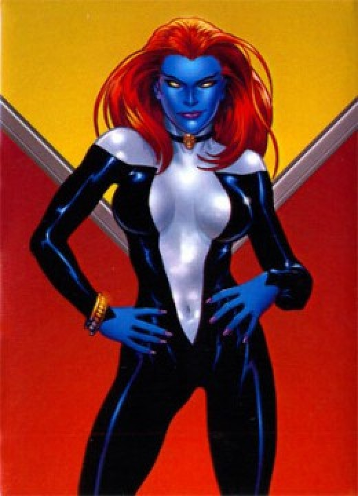 Mystique Black and White Bodysuit Costume