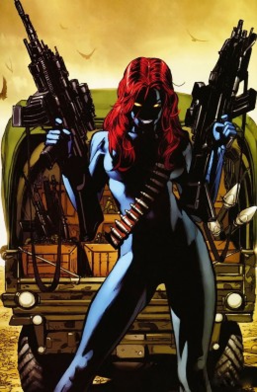 Mystique Scales in Comics