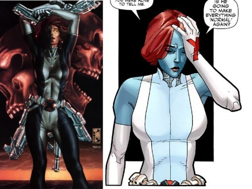 Mystique as Jean Grey during Dark X-Men