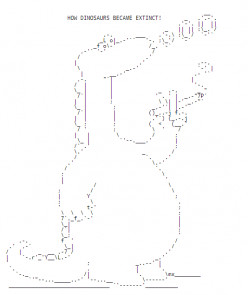 Dinosaurs in ASCII Text Art