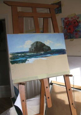Lifeguards Relaxing At Trebarwith Strand on MDF Drawing Board
