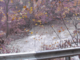 Local rivers that were in turmoil the day after Sandy.