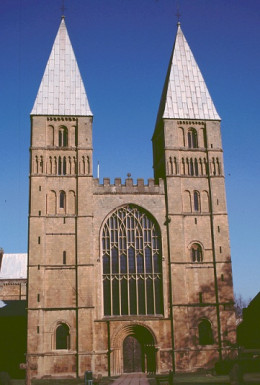 Southwell Minster 'pepperpot' towers