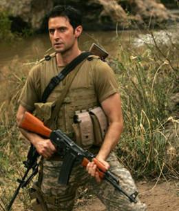 "As soldier John Porter in ""Strike Back"""