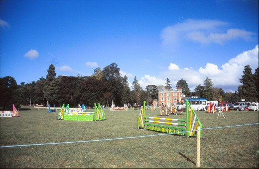 Showjumping course