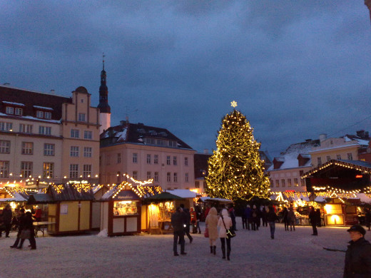 Christmas Market in Tallinin Estonia