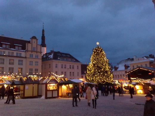 Christmas Market in Tallinin Estonia