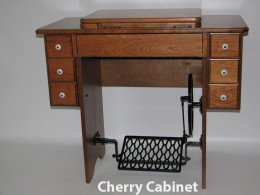 Reproduction Treadle Cabinet Fits the Class 15 Antique Singer Machines and Janome 712T Machine.