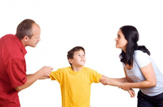 Don't make your child the rope in a parental tug of war.