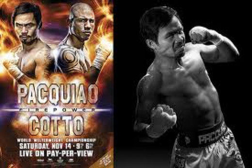 Miguel Cotto Fought a brutal battle with Manny Pacqiauo but he came up short in a sensational and competive bout. Cotto always gives his best win or lose.