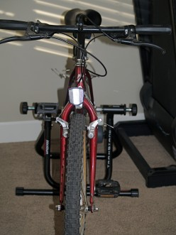 My bike on a trainer - front view