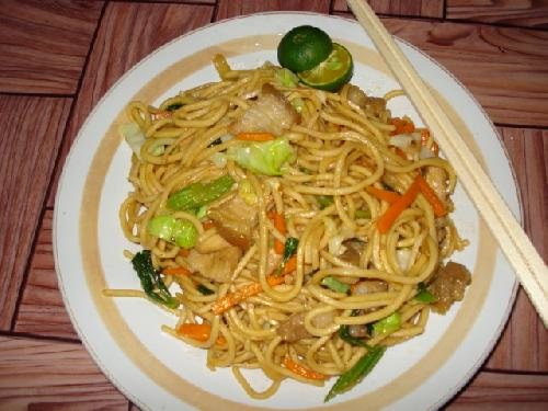 to this cooked pancit canton.