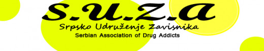 "Official Banner of ""SUZA"" Association        Serbian Association of Drug Addicts"