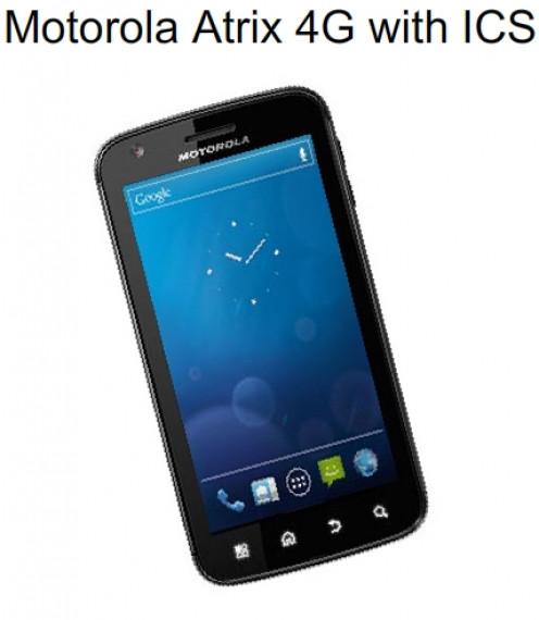 Motorola Atrix 4G with ICS